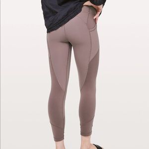 Lululemon All The Right Places Crop 4 Antique Bark